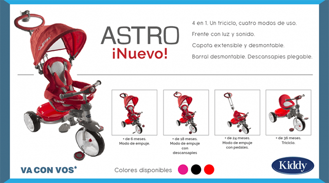 Kiddy cochecito Astro
