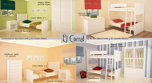 El Corral cunas muebles bebés, niños, promociones - Bebe-Shopping ...